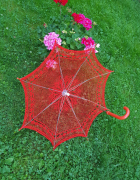 Parasol ażurowy rękodzieło...