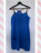Letnia luźna sukienka z tencelu z kieszeniami XL...
