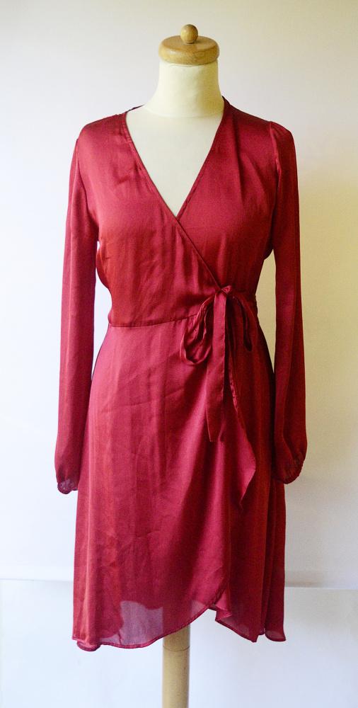 Sukienka Czerwona Kopertowa Gina Tricot S 36 Elegancka...