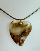 Piękny kryształ z duchem kwarc fantomowy serce...