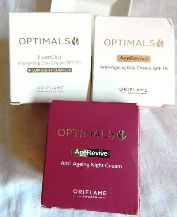 Optimals 3 kremy do twarzy Oriflame