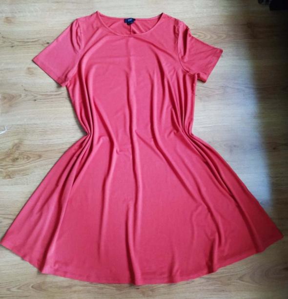 Sukienka tunika czerwono pomarańczowa F&F XXL 44...