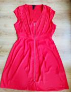 Czerwono pomarańczowa sukienka H&M 12 42...