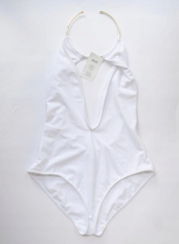 Strój Kąpielowy Nowy Choker 46 3XL ASOS Biały Sexy