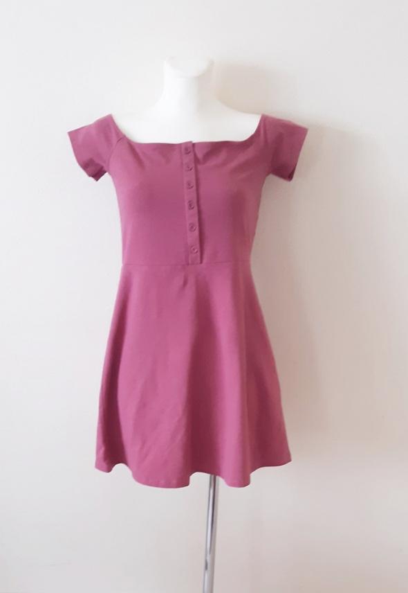 Sukienka nowa z metką malinowa brudny róż mini krótka dziewczęc...