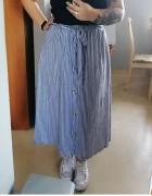 Długa spódnica w paski...