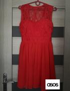 Czerwona sukienka 36 Elise Ryan Asos...