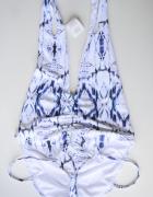 Strój Kostium Kąpielowy NOWY Asos XL 42 Wzory Biały