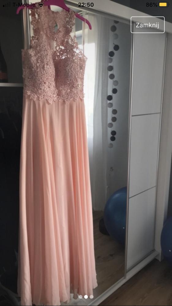 Długa elegancka sukienka na wesele...