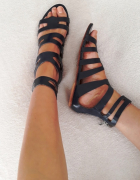 Lanqier 100 skóra naturalna raz ubrane sandały gladiatorki 37...