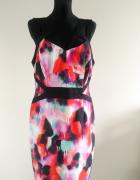 Kolorowa sukienka na ramiączkach 42 44