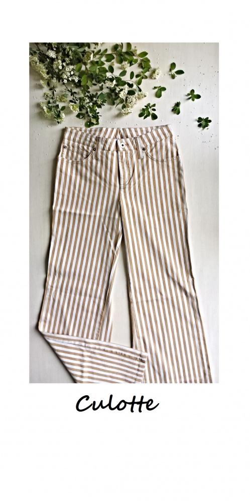 Nowe spodnie kuloty w paski culotte hit S M
