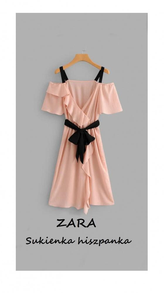 Elegancka sukienka Zara S M wesele modna hiszpanka must have impreza osiemnastka