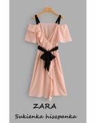 Elegancka sukienka Zara S M wesele modna hiszpanka must have im...