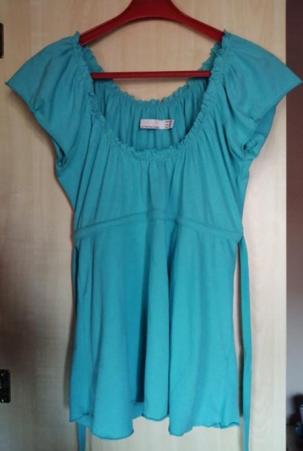 Zara turkusowa bluzeczka