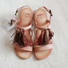 NOWE metka Mtng Zalando 100 skóra naturalna cieliste sandały 37