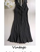 Czarna sukienka vintage na guziki XS S...