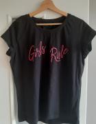Czarny tshirt girls rule...