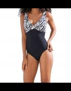 Modelujacy kostium kąpielowy zebra