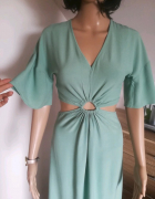 Miętowa sukienka Reserved Eco Aware...