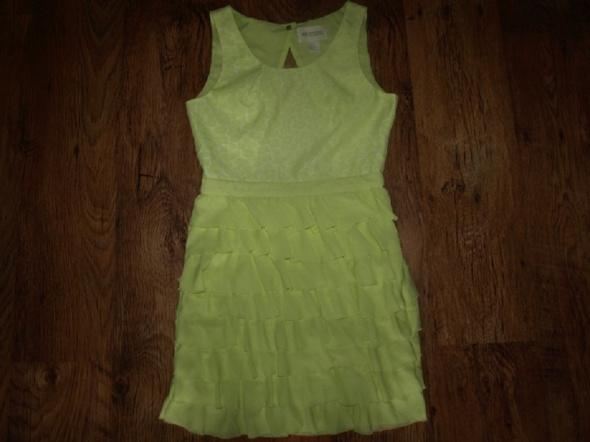 Suknie i sukienki Limonkowa HM rozm S