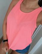Zwiewna koszulka Atmosphere neon różowy koszulka M...
