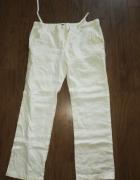 Spodnie męskie Zara sto procent len białe...