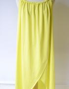Sukienka Neonowa Żółta Plażowa Pareo Finejo XL 42 Neon