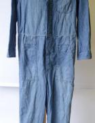 Kombinezon Niebieski H&M Dzinsowy XS 34 Jeansowy Dzins...