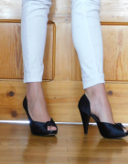 Buty na studniówkę wesele Czarne wygodne szpilki...