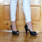 Buty na studniówkę wesele Czarne wygodne szpilki