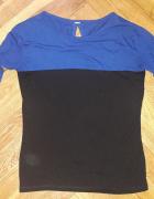 Niebiesko czarna bluzka Top Family XL