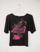 Czarna bluzka z nadrukiem motyl rock punk emo goth