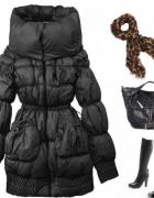 czarna kurtka zimowa zara...