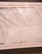 bolerko sweterek ślubny biały...