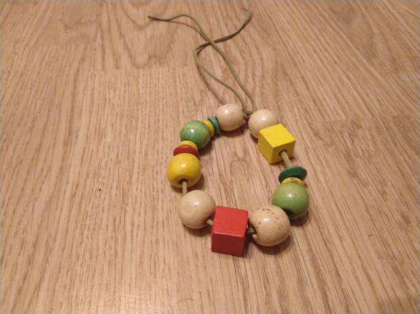 Bransoletki Drewniana bransoletka na rzemyku korale handmade reggae ska rasta