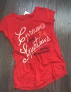 H&M czerwona koszulka jak nowa