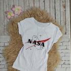 Bluzka z nadrukiem NASA na krótki rękaw rozmiar S