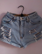 Szorty spodenki jeansowe szorty przetarcia Falmer wysoki stan...