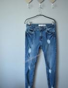 Spodnie rurki przetarcia 38