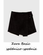 Eleganckie zamszowe spódnico spodnie ZARA BASIC S...