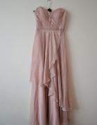 Sukienka nude falbany ASOS...