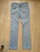 Szare jeansy Sicko Nineteen Denim rozmiar 36 zamki zipy...