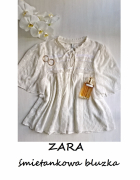 Śmietankowa bluzeczka ZARA S M...