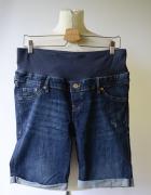 Spodenki Ciążowe Dzinsowe H&M Mama XXL 44 Przetarcia Jeans...