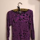 Fioletowo czarna tunika sukienka panterka w panterkę ASG