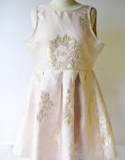 Sukienka NOWA Różowa Złota Rozkloszowana L 40 True Decadence...