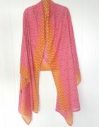 Nowa indyjska chusta bawełniana dupatta duża oversize szal różo...