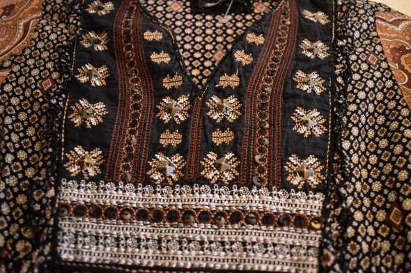 Suknie i sukienki Boho folk etno haft aplikacja kwiaty floral 36S tunika sukienka