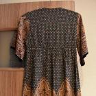 Boho folk etno haft aplikacja kwiaty floral 36S tunika sukienka